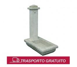 Fontana modello Albano, realizzata sia in Travertino che in Peperino.