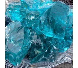 Pietra di vetro azzurra