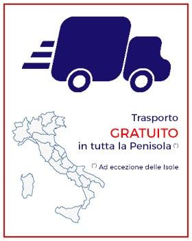 Trasporto Gratuito in tutta la Penisola italiana